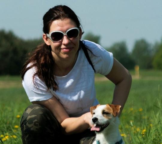 Właścicielka szkoły złaptrop z psem